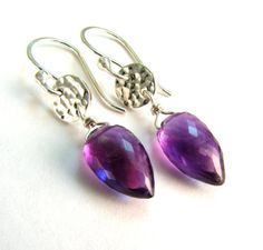 Amethyst Earrings  African Amethyst  Purple by JessicaCoxJewelry