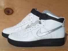 Vintage-1991-Nike-Air-Force-1-High-AF1-Metallic-Silver-Rare-OG-Size-5-5