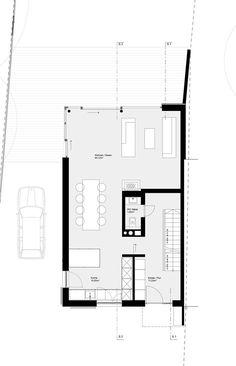 Anstelle eines Siedlungshauses wurde ein Neubau mit Gartenanbau erstellt. Die Grundrißkonzeption ergibt im EG offenes Wohnen, im 1. OG befindet sich der Kinderbereich und im DG der Rückzugsort für die Eltern. Großzügige...
