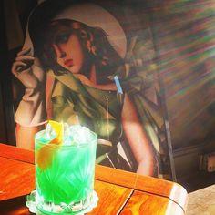 The Green Goddess @bringandmix #cocktail #cocktails #southampton #winchester #mint #cremedementhe #vodka #gin #green #saturday #saturyay #mixology #mixologist #prohibition #speakeasy