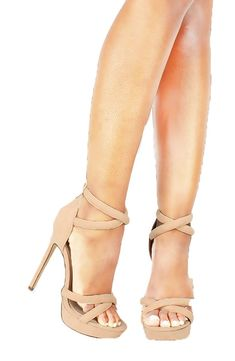 c20008a4af Liliana Criss Cross Tube Strap Platform High Stiletto Heels Chester-1 * See  this great