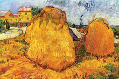 Haystacks in Provence, by Vincent van Gogh
