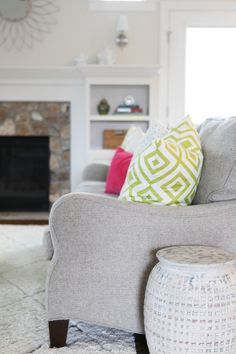 Beauty of a couch | Read More: http://www.stylemepretty.com/living/2014/09/25/bright-living-and-office/