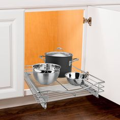 Roll Out Kitchen Cabinet Organizer Pull Out Under Cabinet Sliding Shelf Storage #LYNK