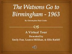 essay questions for watsons go to birmingham