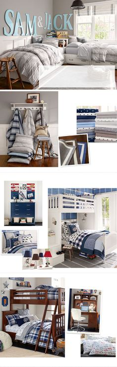 Boys Room Ideas & Boys Room Decorating Ideas | Pottery Barn Kids - I like this wall color