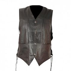 Daryl Dixon Black Biker Leather Vest