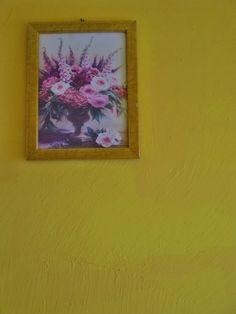 kitschy flowery and yellowish