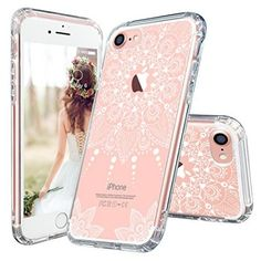 iPhone 6 Case, iPhone Clear Case, MOSNOVO White Tassel Henna Lace Clear Design Printed Transparent Plastic Hard with Soft TPU Bumper Protective Phone Case Cover for Apple iPhone 6 Inch) Pretty Iphone 7 Cases, Iphone 7 Cover Case, Cases Iphone 6, Iphone Cases For Girls, Iphone 7 Plus, Apple Iphone 6s Plus, Apple Coque, Coque Iphone 6, Best Iphone