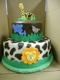 Animal Birthday Cake #birthdaycake