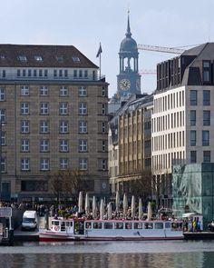Hamburg Alster Anleger Jungfernstieg, Neuer Wall, Michel