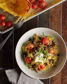 12. Spaghetti Squash Puttanesca #comfortfood #squash #spaghettisquash…