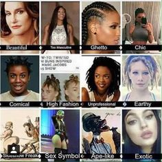 Different elements of black culture and how they have been culturally appropriated by white culture - and how they suddenly become acceptable, beautiful or interesting.