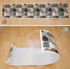 Lybstes. IKEA Lampenschirm neu mit Stoff bekleben