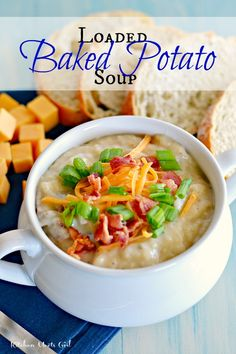 Loaded Baked Potato Soup- Made in crock pot & didn't mash any of the potatoes. Added bacon while cooking & did saute the garlic prior to putting in crock pot. It was great.