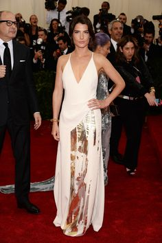 How I Met Your Mother's Cobie Smulders walked the Met Gala red carpet for her first time wearing a low-cut dress.