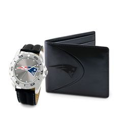 Game Time New England Patriots Watch and Wallet Gift Set