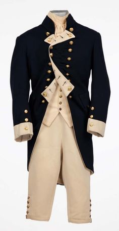 """Charles Laughton """"Capt. Bligh"""" complete Royal Navy uniform from the 1935 Mutiny on the Bounty. (MGM, 1935)"""