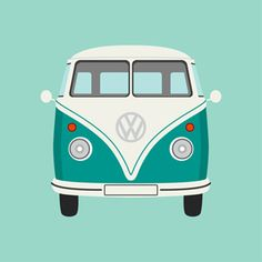 Sea Green Camper Van by Graphic Nothing @Maja Gerd