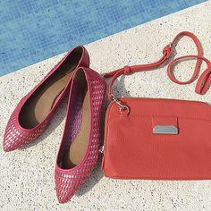 Linda combinação #shoestock #verao2015 #colorful #rosa Ref 13.06.0031 - 16.03.0551
