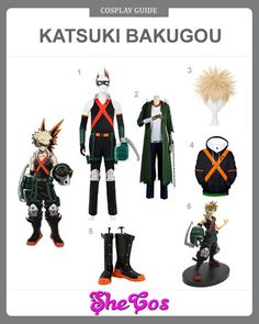 Willing to cosplay as Katsuki Bakugou of My Hero Academia and get the powerful quirk? SheCos provide the best Katsuki Bakugou costume gudies in steps. Cosplay Diy, Cosplay Makeup, Cosplay Outfits, Halloween Cosplay, Halloween Outfits, Cosplay Costumes, Cosplay Ideas, Cosplay Style, Halloween Costumes