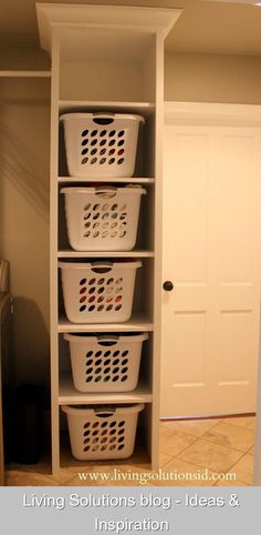 Living Solutions blog - Ideas & Inspiration {442785} #laundry #storage #laundrystorage The Laundry Room Today