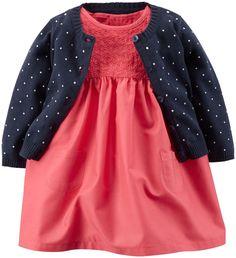 Carter's 2 Piece Dress Set (Baby) - Pink