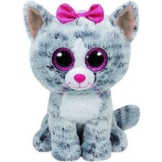 Cheap ty beanie boos, Buy Quality big eyes directly from China girl birthday gifts Suppliers: Ty Beanie Boos Gray Cat Plush Toy Doll Baby Girl Birthday Gift Stuffed & Plush Animals Big Eyes Stuffed Animals & Plush Ty Beanie Boos, Beanie Babies, Beanie Boos For Sale, Ty Stuffed Animals, Plush Animals, Baby Animals, Stuffed Toys, Kiki Cat, Ty Peluche