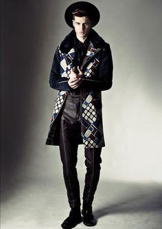 Gorgeous print on that coat. Selim De Somavilla Fall/Winter2014