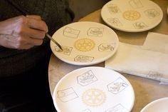 Painting.  #artesia #handmade #ceramics #pottery #tuscany