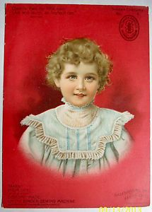 1901 Singer Sewing Machine Victorian Trade Card Series 4 Costume Series 22