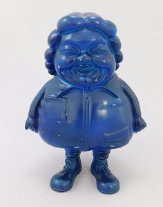 "Ron English Mc Supersize Me Designer Vinyl Blue Plastic Prototype 6"" Figure 2004 #NearPointToys"