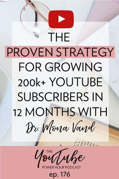 Apr 10, 2019 - Beauty and wellness YouTuber Dr. Mona Vand, breaks down her super simple method for explosive growth to over 200k subscribers in just 1 year! Marketing Software, Marketing Tools, Social Media Marketing, Marketing Strategies, Marketing Ideas, Content Marketing, Affiliate Marketing, Youtube Hacks, You Youtube