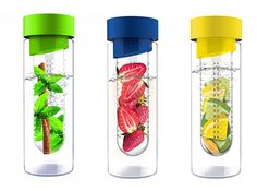 Cool and Eco-friendly Reusable Water Bottles Infused Water Bottle, Glass Water Bottle, Glass Bottles, Drink Bottles, Lemon Water Weight Loss, Eco Friendly Water Bottles, Reusable Water Bottles, Fruit Drinks, Fruit Juice
