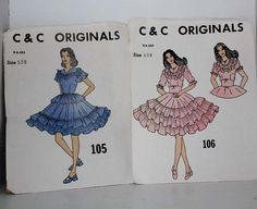 C & C Original Square Dance Dress Pattern by MissLinniesHouse, $7.00