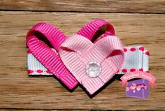 """Pink Heart Hair Clip - Valentine Hair Bow These little hearts are about 1 inch tall and perfect for a little girl's hair on Valentine's Day. This comes on a 1.75"""" partially lined alligator clip. You can also choose to add a silicone no slip grip to the clip for $.05 which helps it hold better, especially in baby fine hair. You also have an option to have this on a pin. This clip or pin ships quickly as it is already made. Please notice that some items in my shop are made to order and can…"""