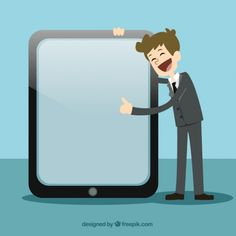 Businessman Pointing At a Screen Free Vector Business Ppt, Business Technology, Teacher Cartoon, Certificate Design, Certificate Templates, Business Cartoons, Free Characters, Brochure Cover, Stories For Kids