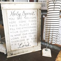 ONLY 5!!! - PRE-ORDER your 4'x5' Holy Spirit ONE of a KIND framed amazing signs by THE best guys in the world @cr71biz  leave your PayPal email in convo's below with either BLACK or GREY lettering  we will invoice you  first FIVE PAID invoices get them 650.00 local pick-up or with address we can get a quote to ship  #houseofbelonging #spokenoverhome #madeintheusa #soulcraftedsince2010 #franklintn #westhaventn #holyspirit #tentpegs #armyrises #newbeginnings #warrior #belovedwarrior…