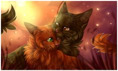 Their sweet moments (Squirrelflight and Brambleclaw)
