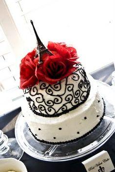 Paris Cake- pinning for Shelby! Gorgeous Cakes, Pretty Cakes, Cute Cakes, Amazing Cakes, Paris Birthday Cakes, 16th Birthday, Honey Chicken Kabobs, First Communion Cakes, Paris Cakes