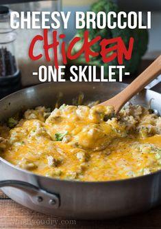 Cheesy Broccoli Chicken Skillet Recipe