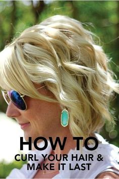 How to Curl Your Hair & Make It Last These effortless beachy waves are perfect for your rustic outdoor wedding. This short bridal hairstyle is filled with tips and tricks for how to help your soft curls last throughout the barn wedding reception! Hairstyles With Bangs, Pretty Hairstyles, Wedding Hairstyles, Hairstyle Ideas, Beach Hairstyles, Easy Hairstyle, Hairdos, Halloween Hairstyle, Drawing Hairstyles
