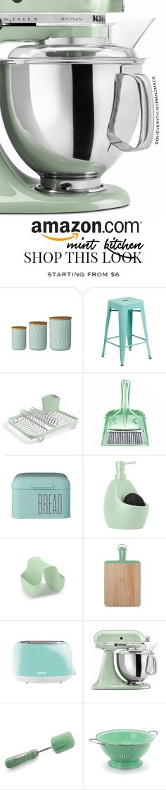 We had a busy week and took some much-needed family time over the weekend. But, here I am with a fun Amazon Mint Kitchen Finds style board.