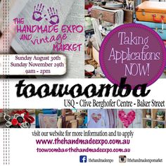 Adding Vintage to our Handmade Market for Toowoomba Agust 2015 and November 2015 Handmade Market, November 2015, Baker Street, How To Apply, Marketing, Website, Diaries, 30th, Vintage