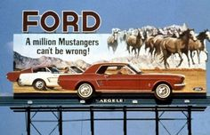 A million Mustangers… 1965 Ford billboard Mustang 1964, Mustang Cars, Ford Mustangs, Classic Mustang, Ford Classic Cars, Ford Mustang History, Bicicletas Raleigh, Vintage Mustang, Pony Car