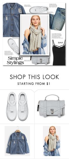 """Denim rules"" by smajlovicelvira ❤ liked on Polyvore featuring NIKE and Proenza Schouler"