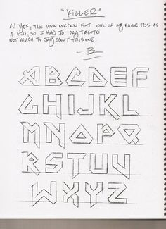 alphabet for tattoos Pretty Handwriting, Handwriting Styles, Calligraphy Handwriting, Calligraphy Letters, Caligraphy, Penmanship, Lettering Guide, Creative Lettering, Lettering Styles