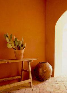 Mexican Antique Ranch Table, Sabino (Mexican Cypress).   Antique Tamalero Ceramic