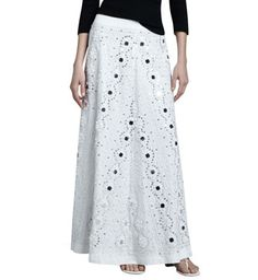 Mirrored Embellished A-line Skirt by Neiman Marcus at Neiman Marcus.