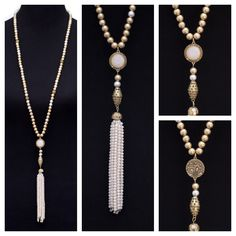 Our Matt Gold and Silver Bead Necklace with Fringe featured on my blog today is a gorgeous piece and it is part of our Mother's Day Sale. . Get 15% off everything in our store with code MD17 plus Free US Shipping!! www.jacketsociety.com